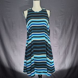 Tommy Hilfiger Sleeveless Striped Trapeze Dress